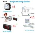 Infirmière appel Buzzer système compteur moniteur montre téléavertisseur avec bouton panique pour aîné utilisé (1 affichage 1 montre 10 bouton)