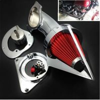 Motorcycle Chrome Cone Spike Air Filter Intake Cleaner for Kawasaki Vulcan 800 VN800 Classic 1995 UP