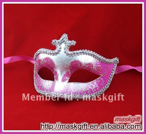 Хэллоуин розовый леди популярные вечерние королева ярко розовый и серебряный Венецианский стиль Карнавальная маска