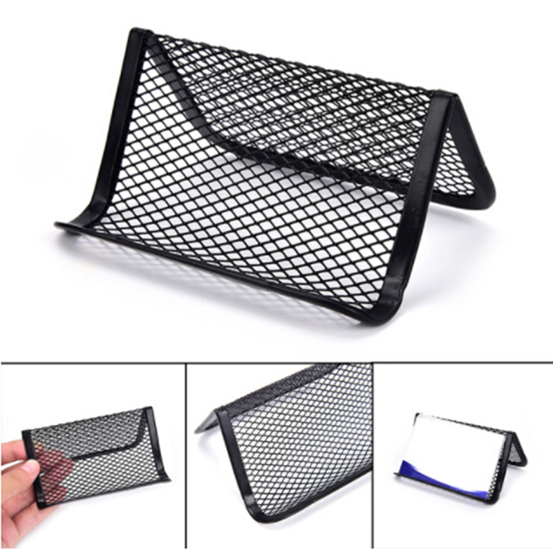 Wire card holder business desk wire center 1pc card holder shelf business cards display stand office metal wire rh aliexpress com multiple business card holders for desk business card holder wooden reheart Gallery