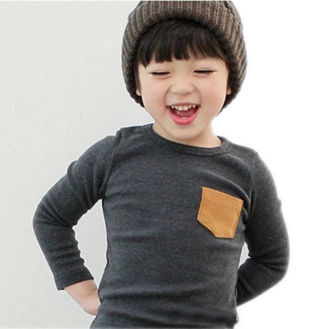 Autumn Toddler Baby T-shirt For Kids Girls Long Sleeve Tee Tops Soft Solid Kids Boys Tees Candy Color Baby Girls Cotton T-Shirts 2