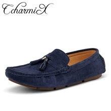 354d99e80 CcharmiX Plus Size 45 Mens Sapatos Casuais Deslizar Sobre Mocassins Homens  Mocassins de Couro de Camurça