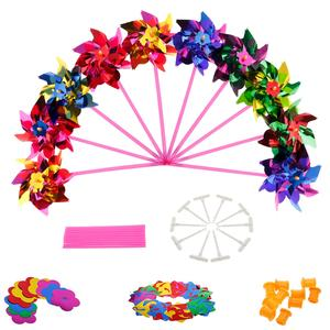 Toy Windmill Pinwheel Garden Party-Decor Plastic Kids Gift for Boys Girls Baby Lawn 10pcs