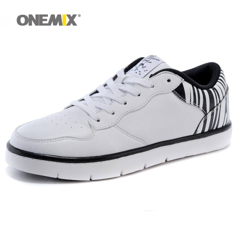 ONEMIX Mens Skateboarding Shoes With 5 Colors Microfiber Pu Leather Outdoor Walking Shoes for Men EUR Size 39-45 1067