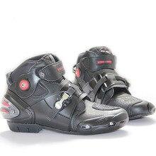 Профессиональный мотоботы Мотокросс загрузки скорость байкер гонки загрузки Невысокие туфли Размеры 47 motobotinki сапоги