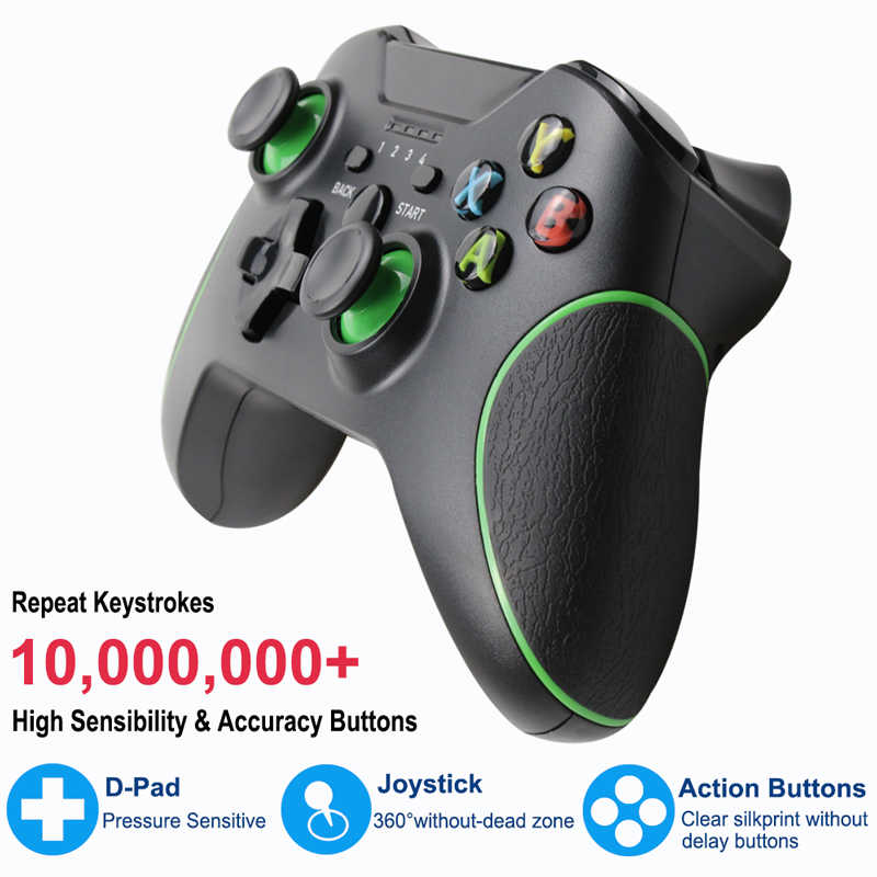 TECTINTER 2 4G Wireless Gamepad Joypad for Xbox One Console Compatible With  PC/ Android Smart Phone For XBoxOne Joystick