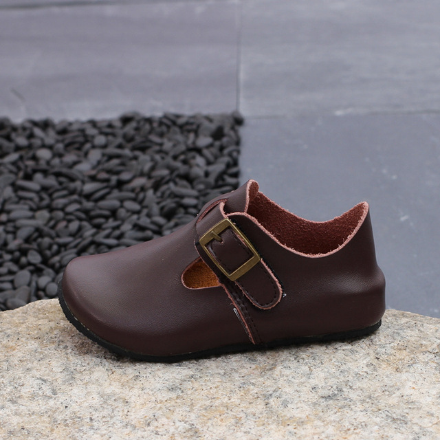 Autumn Japanese Baby Shoes Children Shoes Boys Genuine Leather Loafer Shoes  Fashion Comfortable Kids Shoes Girls Casual KS140 db314e754161