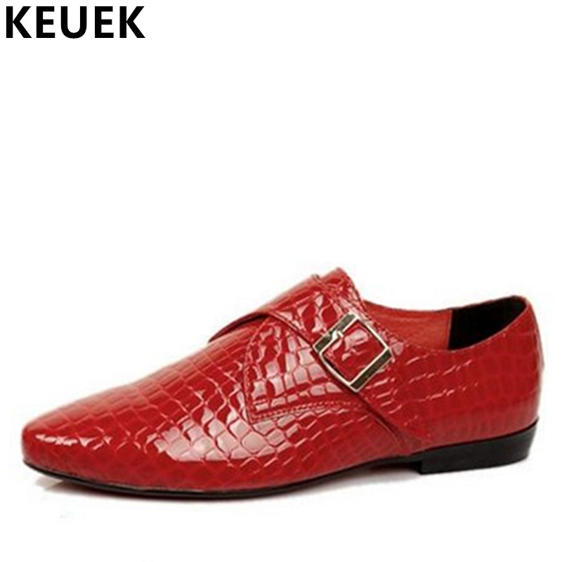 Pointed Toe Oxford shoes Fashion Trend Men Flats Genuine leather Male Business Dress shoes Red Black Wedding shoes 022 hot sale italian style men s flats shoes luxury brand business dress crocodile embossed genuine leather wedding oxford shoes