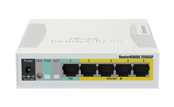 MikroTik RB260GSP 5 Portas Gigabit Ethernet e Uma Gaiola SFP Switch POE