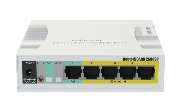 RB260GSP 5 Gigabit Ethernet Ports and One SFP Cage POE Switch ...