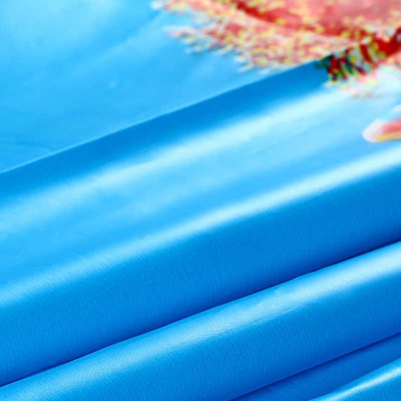 Chất Vải Nilon PEVA Không Đại Dương Xanh Cá Nhiệt Đới Bãi Biển 3D Nóng Có Móc Nhựa Chống Thấm Nước Nhà Tắm Màn Tắm Quà Tặng