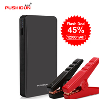 Pushidun Portable K21 12V 12000mAh Car Jump Starter 400A Jump Booster Car Battery Jump Starter Startup for car