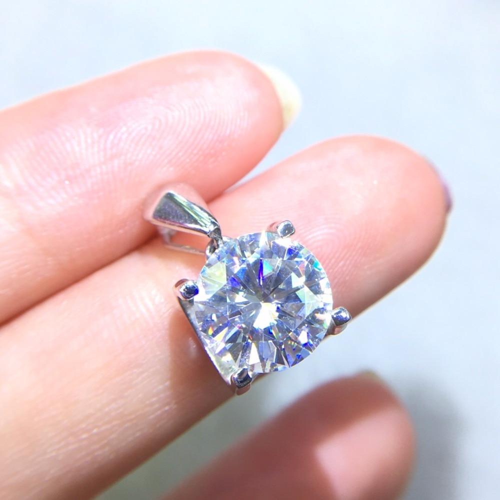 Fine Jewelry Real 18K Gold AU750 G18K 3ct Moissanite Diamond Pendant Gemstone Necklaces for Women