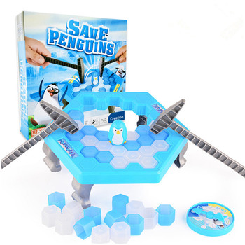 Save The Penguin Large Penguin Ice Breaking Parent-child Desktop Game Family Funny Toys Who Make The Penguin Fall Off Lose Game фото