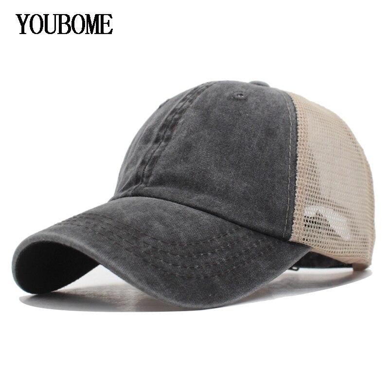 e71d3e695543 Gorra de béisbol de mujer de YOUBOME sombreros de hombre gorras masculinas  para hombres de malla plana de algodón casqueta hueso sólido de mujer de ...