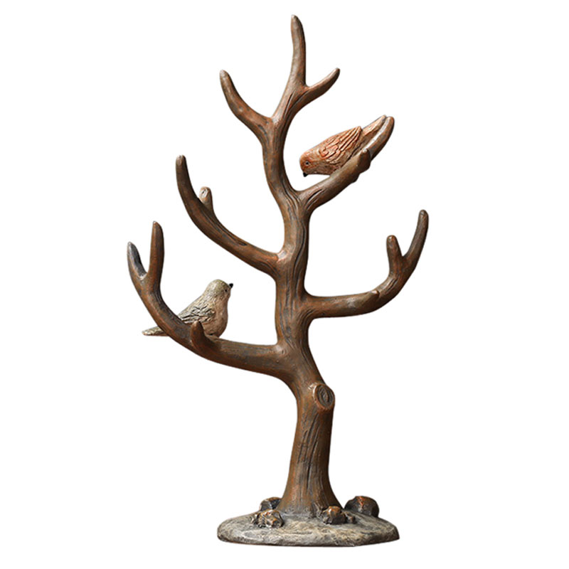 Ornements ménagers, résine, artisanat créatif, ornements, deux Stands d'oiseaux, Branches et arbres, porte-bijoux, décor à la maison