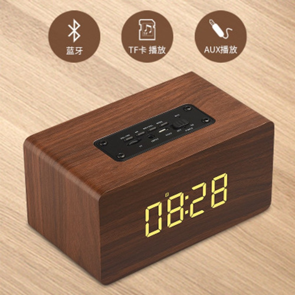 W5C Wooden Wireless Bluetooth Speaker Portable HiFi Shock Bass Home Mobile Phone Speaker Computer Audio