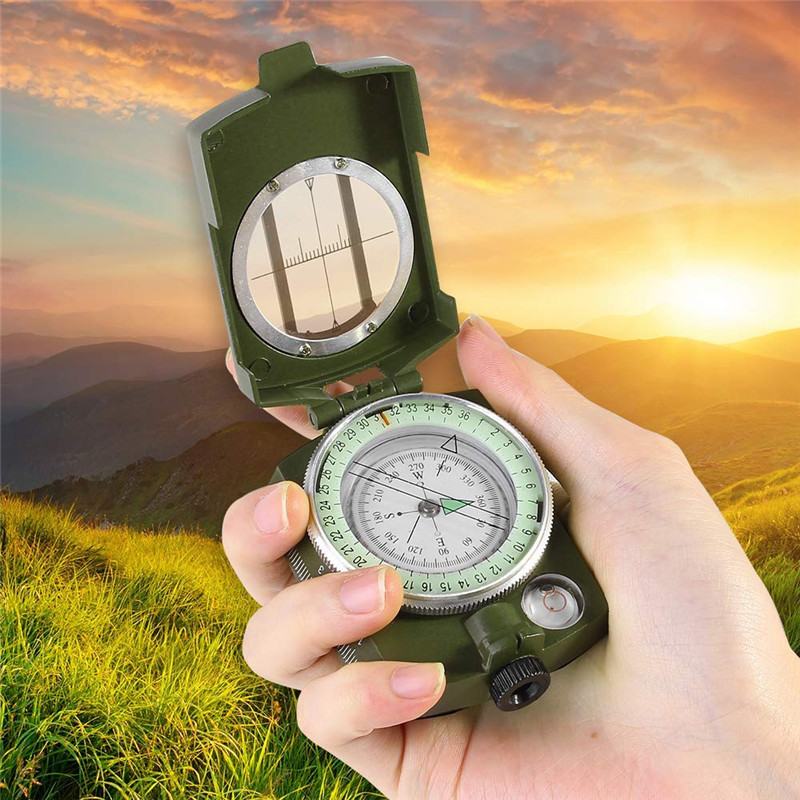 Outdoor Waterproof Survival Military Compass Hiking Camping Army Pocket Military Lensatic Compass Handheld Military Equipment08