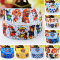 7/8'' (22mm) Paw Patrol Cartoon Character printed Grosgrain Ribbon party decoration satin ribbons OEM 10 Yards