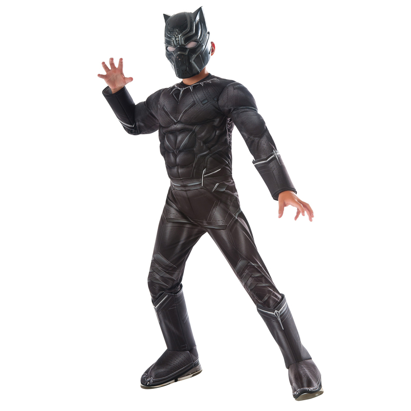 Boys Civil War Black Panther Deluxe Costume image