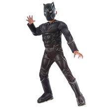 ชายCivil War Black Panther Deluxeเครื่องแต่งกาย