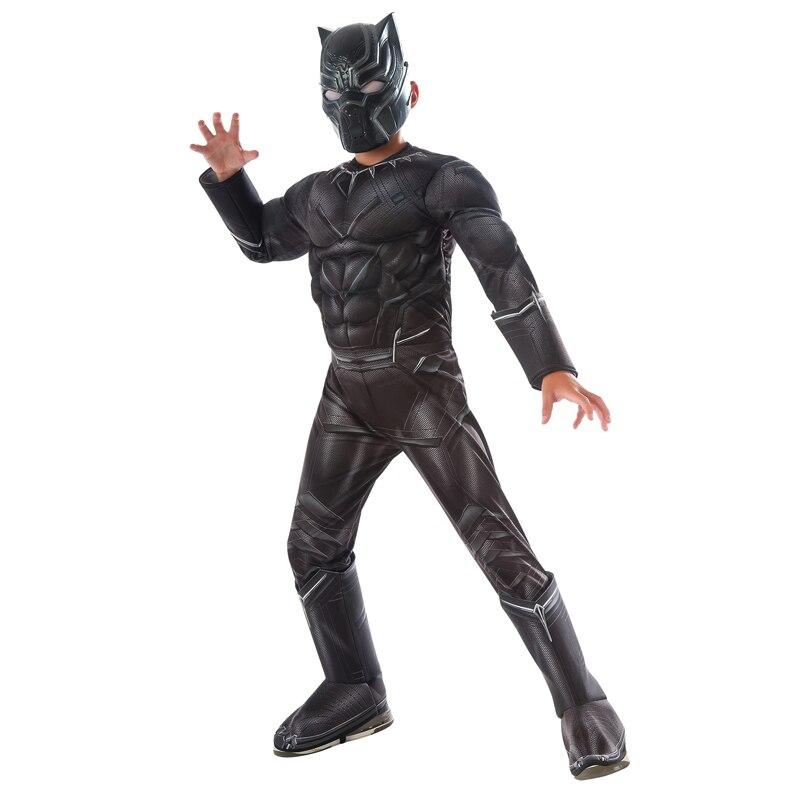 Garçons Guerre Civile Noir Panthère Deluxe Costume
