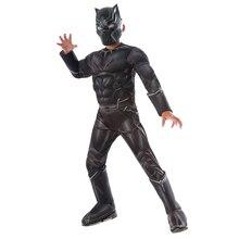 Traje de luxo guerra civil pantera negra para meninos