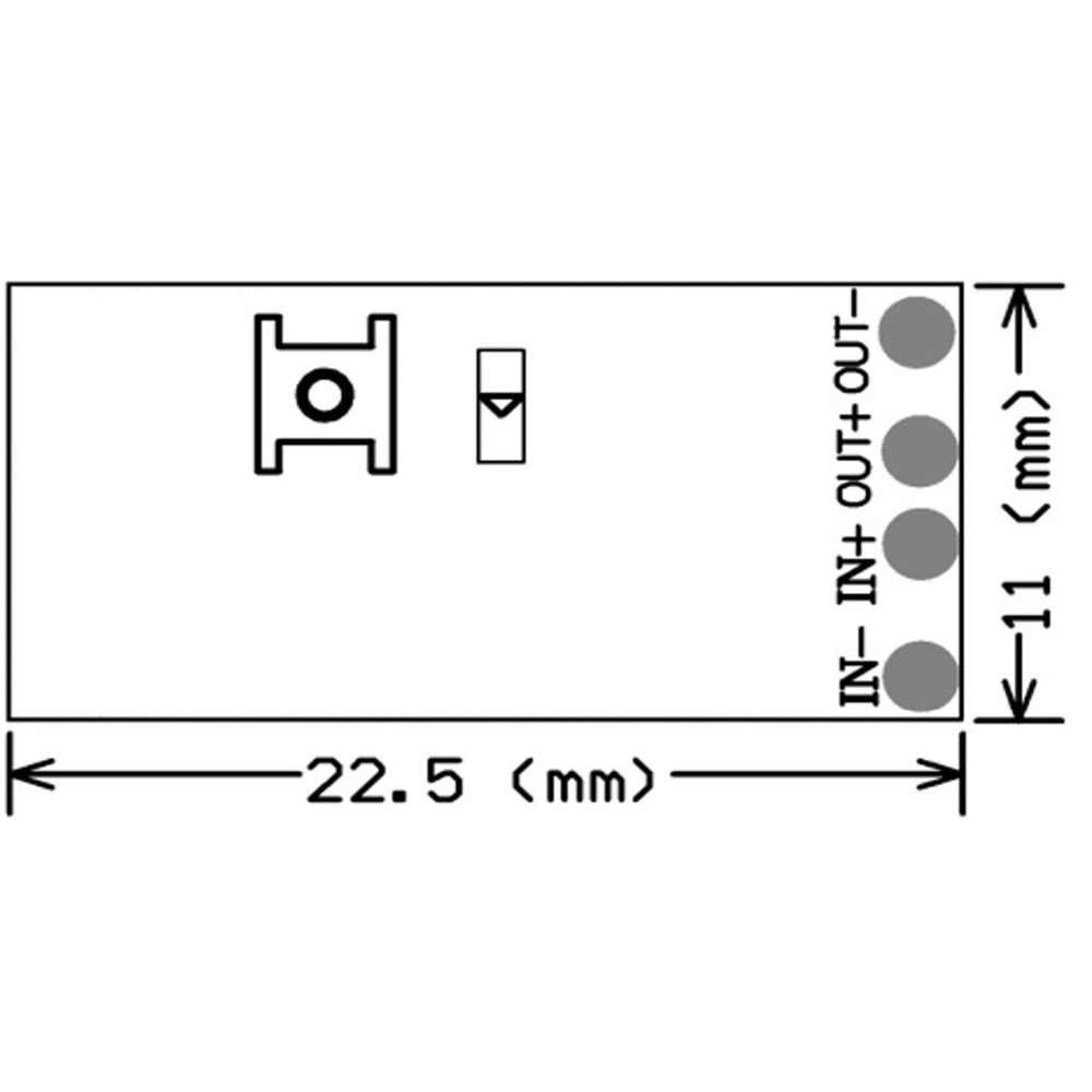medium resolution of  qiachip 433mhz remote control switch micro mini dc 3 5v 3 7v 4 5v 5v 6v