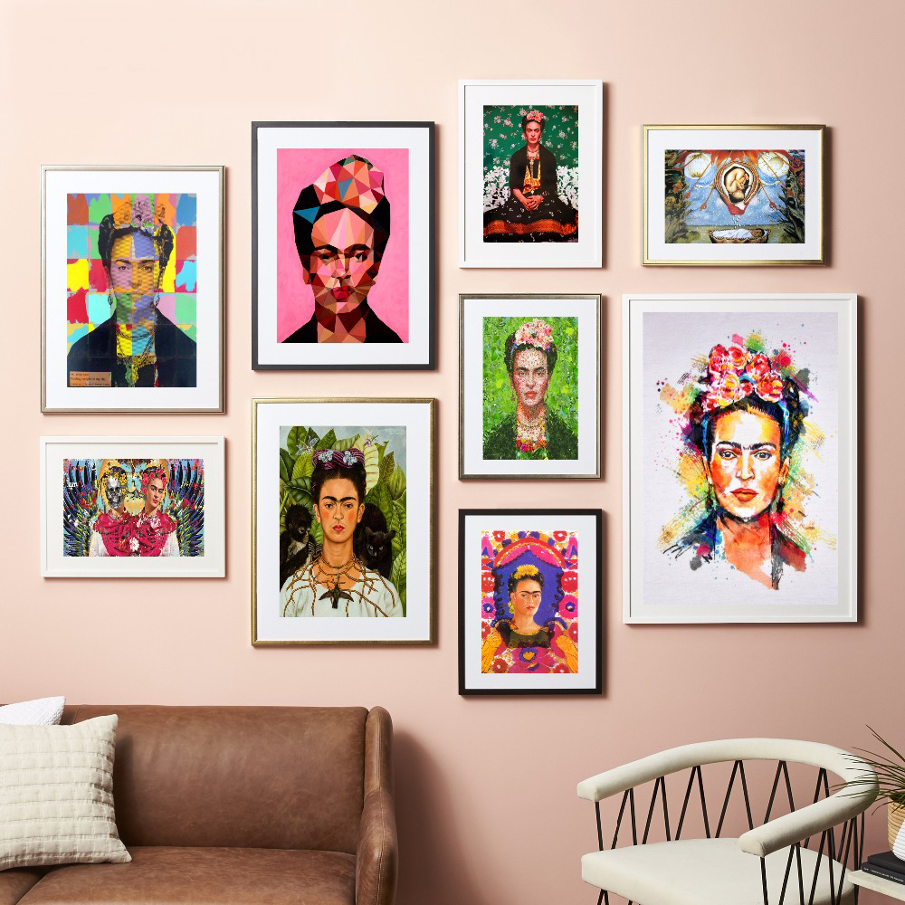 Frida kahlo self portrait canvas art print painting poster Decorating walls with posters