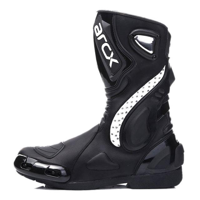 ARCX Motorcycle Boots Motocross Boots Men Waterproof Moto Boots Motorbike Riding Boots Black Botas Moto Motorcycle Shoes 1