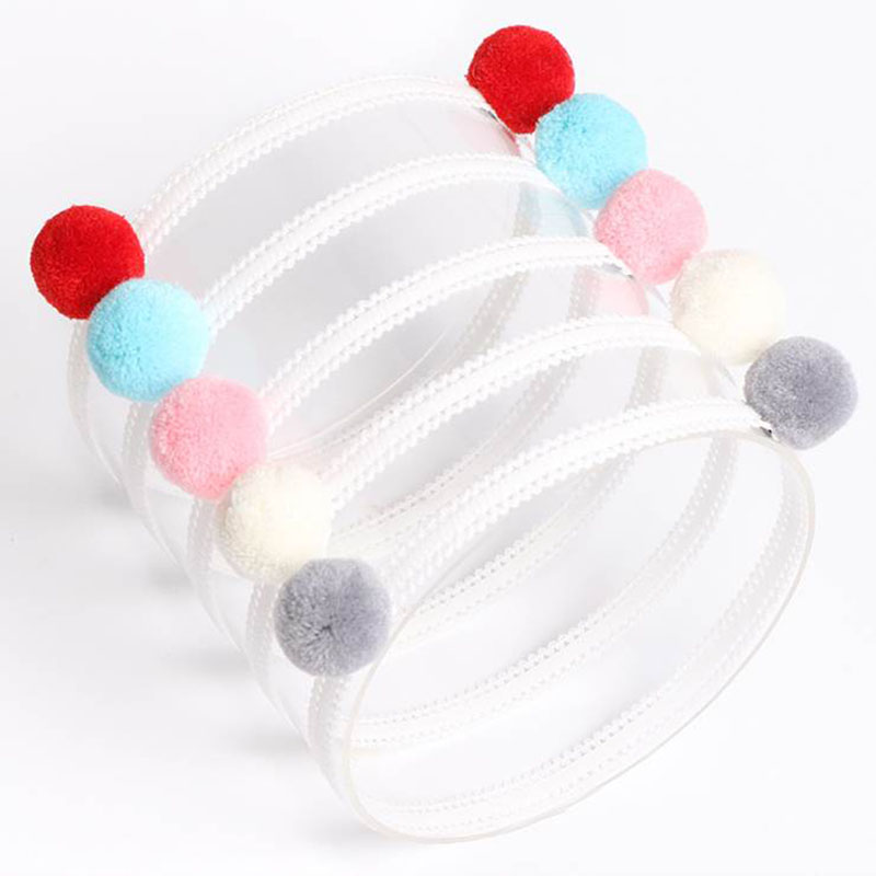 #50616 2017 Pretty Newborn Baby Well-Stretched Elastic Headbands with Hairball Cute Korean Feel Toddler Girls Hair Bands