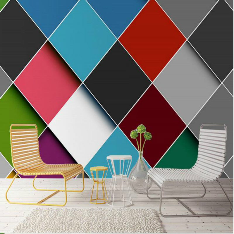 3d Wallpaper Living Room Home Improvement Modern Wallpaper Background Wall Painting Mural Nordic Simple Color Stitching