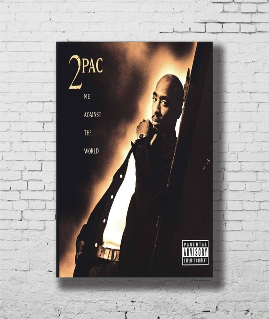 US $4 89 |Tupac 2pac Me Against The World Rap Wall Sticker Home Decoration  Silk Art Poster-in Painting & Calligraphy from Home & Garden on