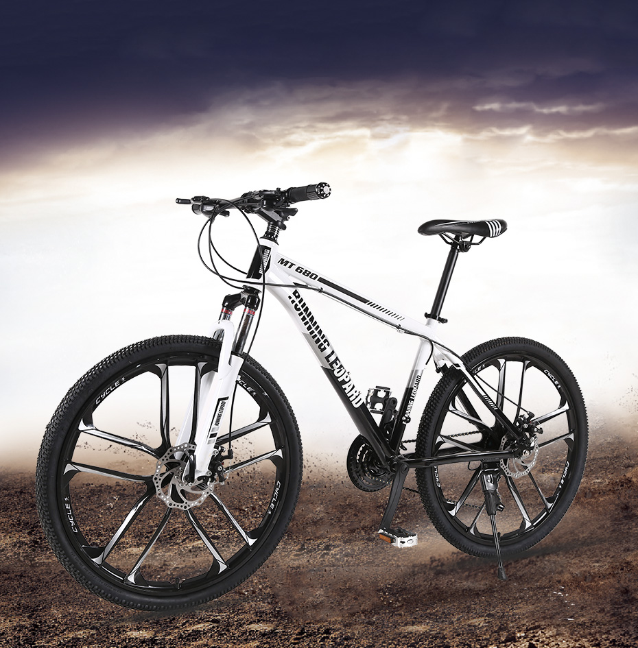 HTB1YOthXtfvK1RjSszhq6AcGFXa6 Running Leopard mountain bike 26-inch steel 21-speed bikes double disc brakes variable speed road bikes racing bike