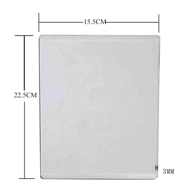 Acrylic die Cutting Machine Plate New Cut Machine pad Plate Scrapbooking for Paper Craft Replacement Pad 15.5x22.5cm 3mm