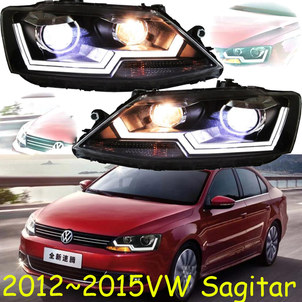 HID,2012~2015,Car Styling for Jetta Headlight,Touareg,sharan,Golf7,routan,saveiro,polo,passat,magotan,Jetta head lamp tiguan taillight 2017 2018year led free ship ouareg sharan golf7 routan saveiro polo passat magotan jetta vento tiguan rear lamp