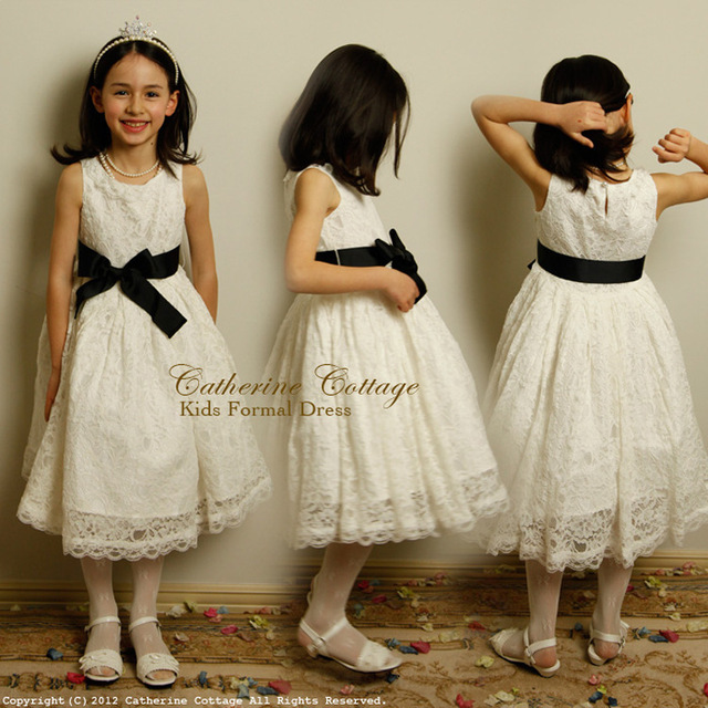 2015 Vintage Rustic Boutique Bow Shabby Chic White Lace Girls Kids ...