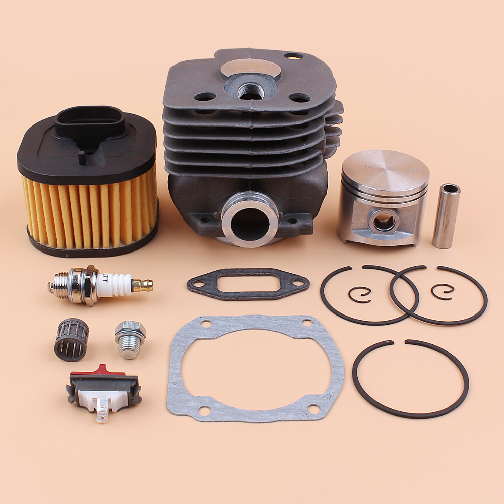 50mm Cylinder Piston Rings Air Filter Bearing Gasket Rebuild Kit Fit Husqvarna 372XP Chainsaw Spare Parts #503 81 80-04 все цены