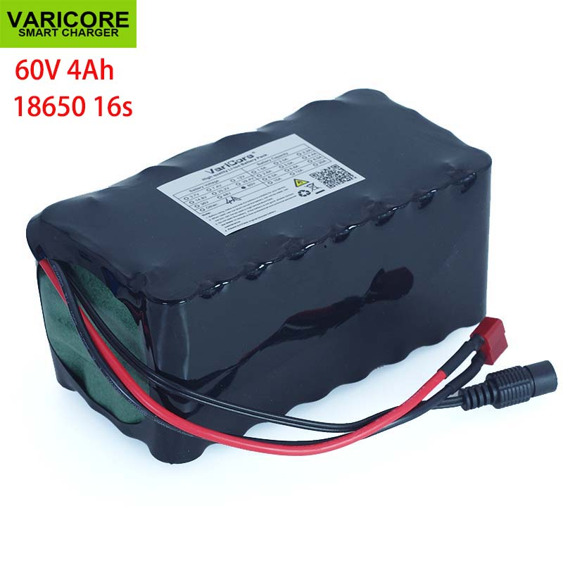 VariCore 16S2P 60V 4Ah 18650 Li-ion Battery Pack 67.2V 4000mAh Ebike Electric bicycle Scooter with 20A discharge BMS 1000WattVariCore 16S2P 60V 4Ah 18650 Li-ion Battery Pack 67.2V 4000mAh Ebike Electric bicycle Scooter with 20A discharge BMS 1000Watt