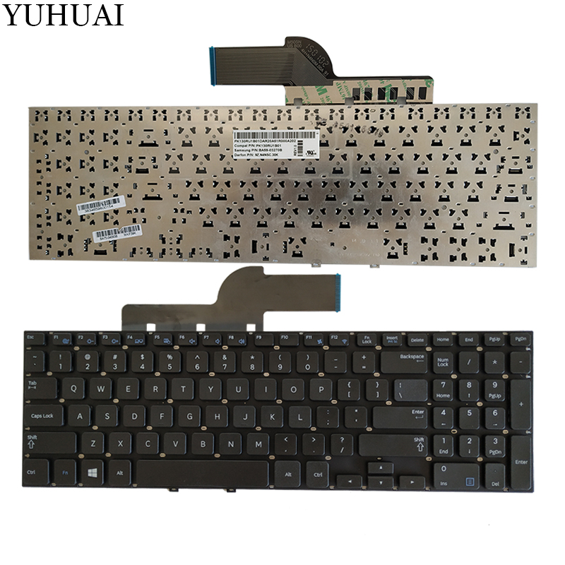 NEW  Keyboard For Samsung 270e5v 275e5v 275E5E 270E5E NP270E5E NP275E5E NP270E5V NP275E5V Black US Laptop Keyboard