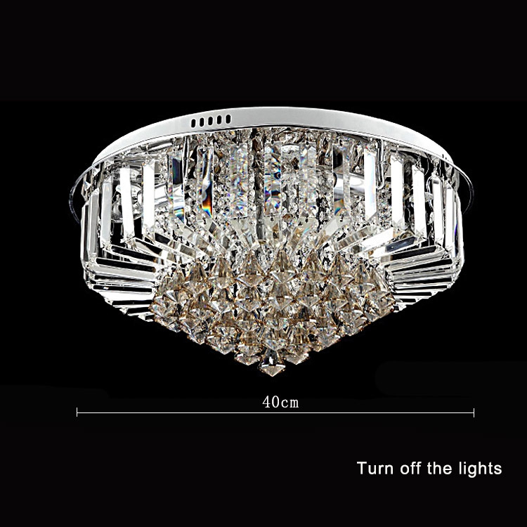 Modern 30w crystal chandelier ceiling fixtures flush mount e14 modern 30w crystal chandelier ceiling fixtures flush mount e14 halogen bulbs chandeliers crystal ac220v 406080100cm diameter in chandeliers from lights mozeypictures Choice Image