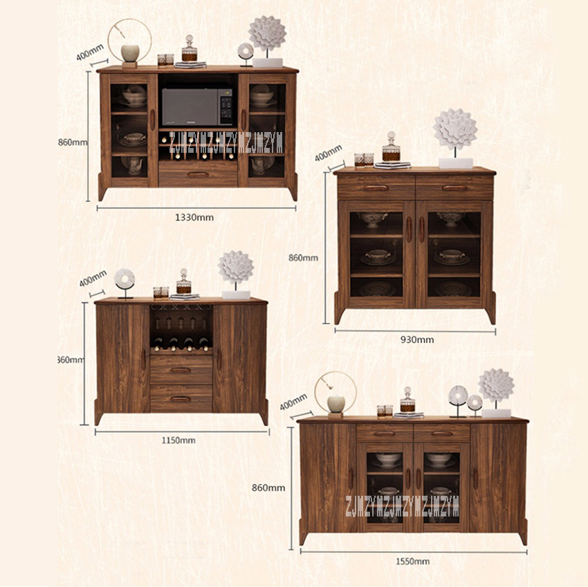 H07/08/09/10 armoire multifonction Style chinois salon petites armoires en bois cuisine Simple armoires de ménage offre spéciale - 6