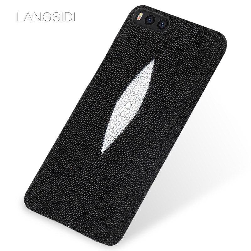 LANGSIDI marque coque de téléphone perle poisson demi-paquet de étui de téléphone pour xiaomi mi Note3 coque de téléphone complet manuel traitement personnalisé