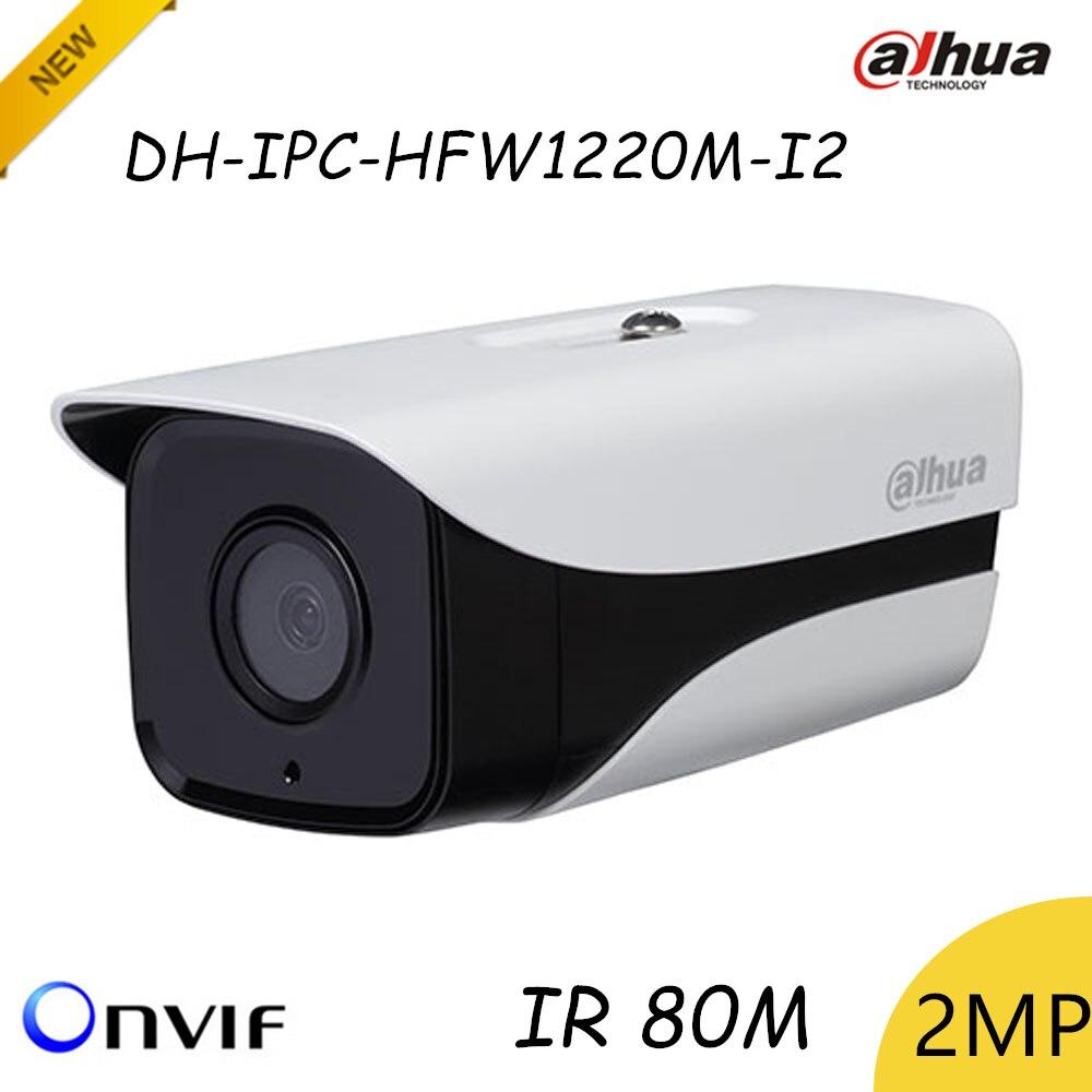 New Arrival Original Dahua 2mp Ip Camera DH-IPC-HFW1220M-I2 HD 1080P Support POE and Onvif IR distance 80m dahua new model dh ipc hfw4421b ip