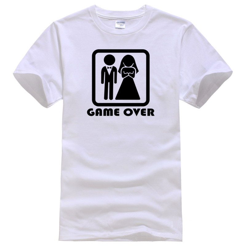 Husband gift game over wife friend fathers days wedding for Novelty bride wedding dress t shirt