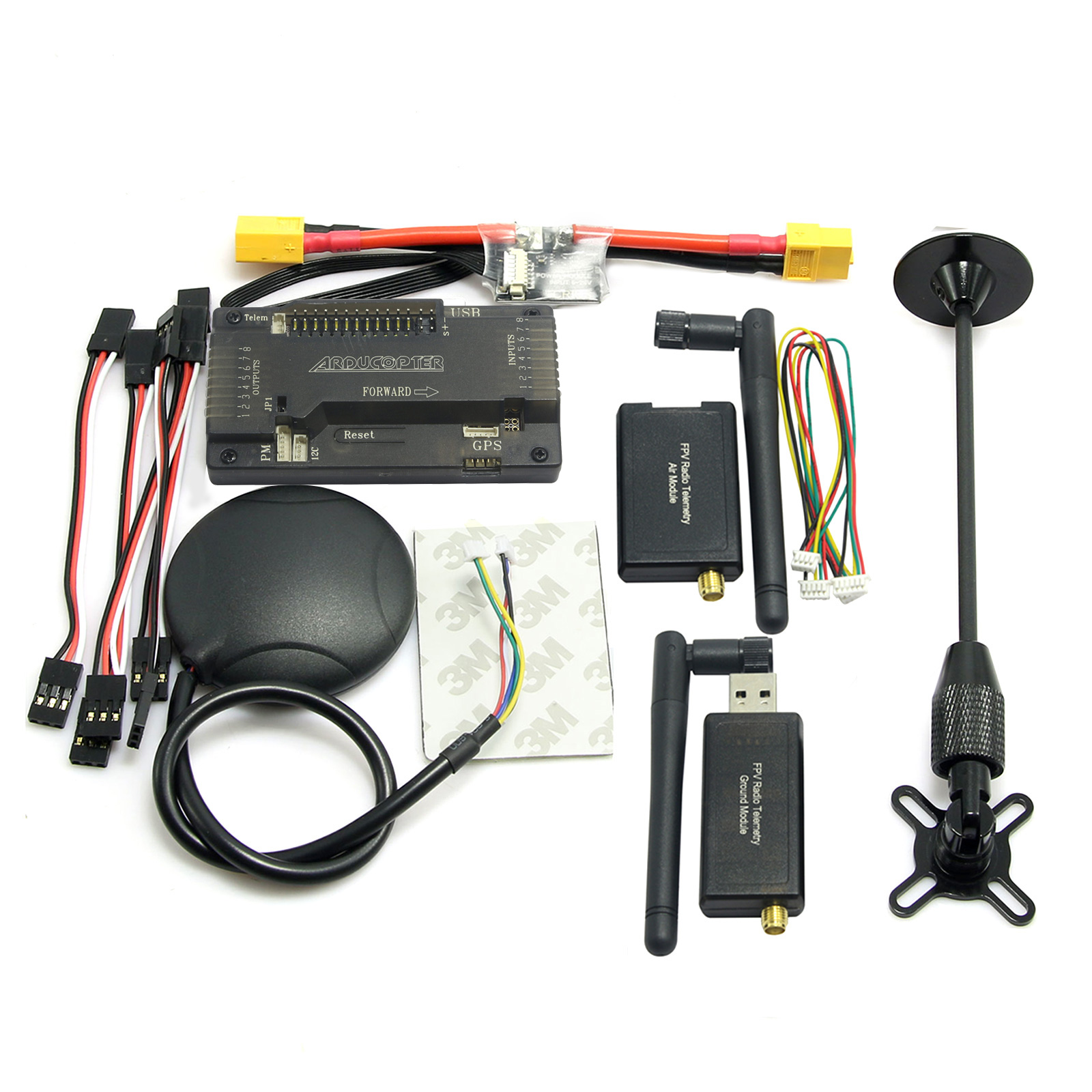 APM2.8 ArduPilot APM Flight Controller with M8N-GPS and 3DR Telemetry & XT60 Power for FPV Drone Multicopter apm 2 6 ardupilot flight controller gps 3dr radio telemetry minimosd current sensor