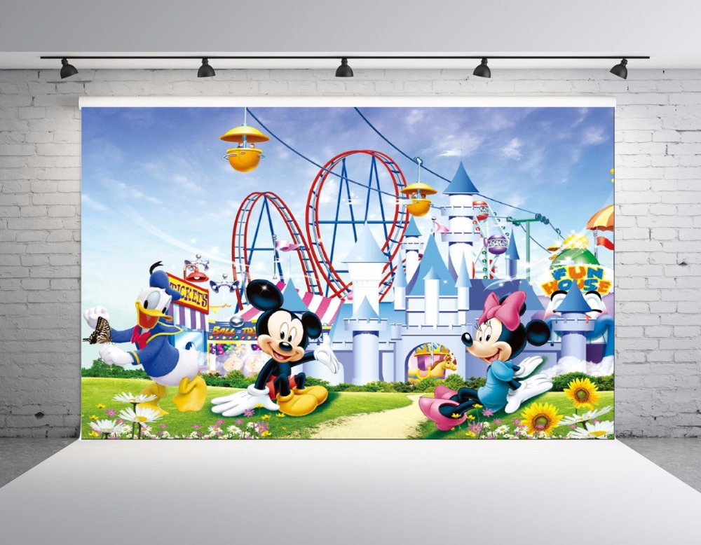 SHANNY Vinyl Custom Photography Backdrops Props Mickey Mouse theme Digital Photo Studio Background NHSHD-10121 300cm 200cm vinyl custom photography backdrops prop christmas background digital ntwu 4042
