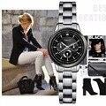 SINOBI Женские Модные Стальные наручные часы люксовый бренд женские кварцевые часы Geneva женские наручные часы Relojes Mujer 2018 Saatler