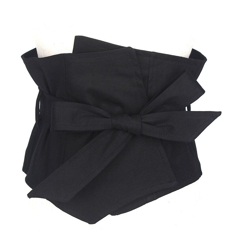 Brand Suit Fabric Dress   Belts   Women Black 19CM Wide   Belt   Dress Accessories Female Girdle Caestus Slimming Corset Strap   Belts