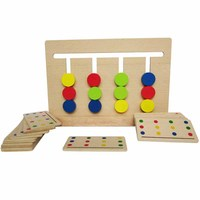 Baby Toy Montessori Four Colors Game Color Matching For Early Childhood Education Preschool Training Learning Toys